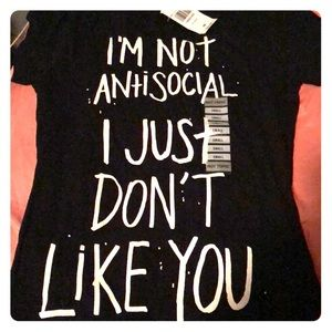Hot topic I don't like you shirt